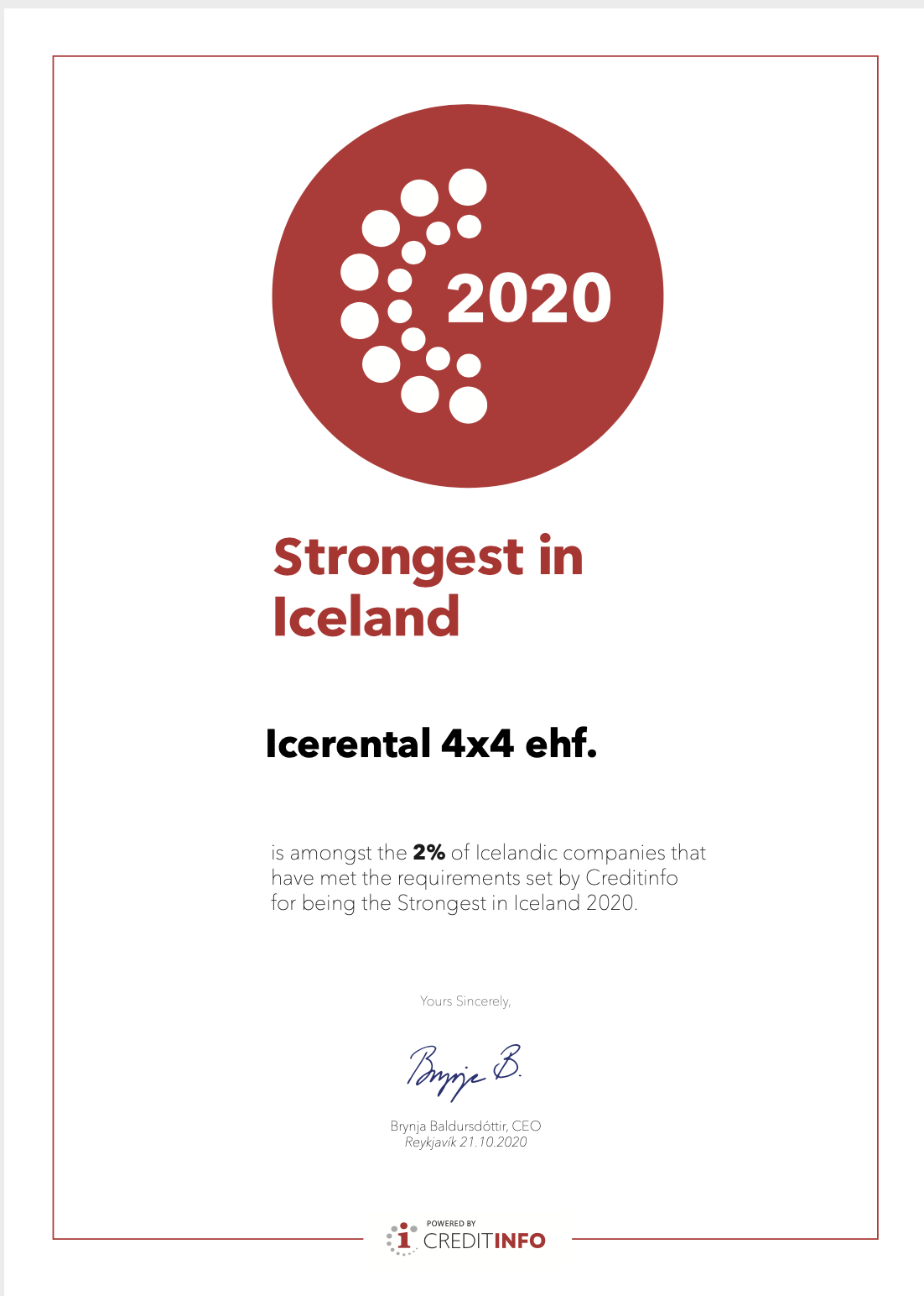 Icerental4x4 Strongest in Iceland
