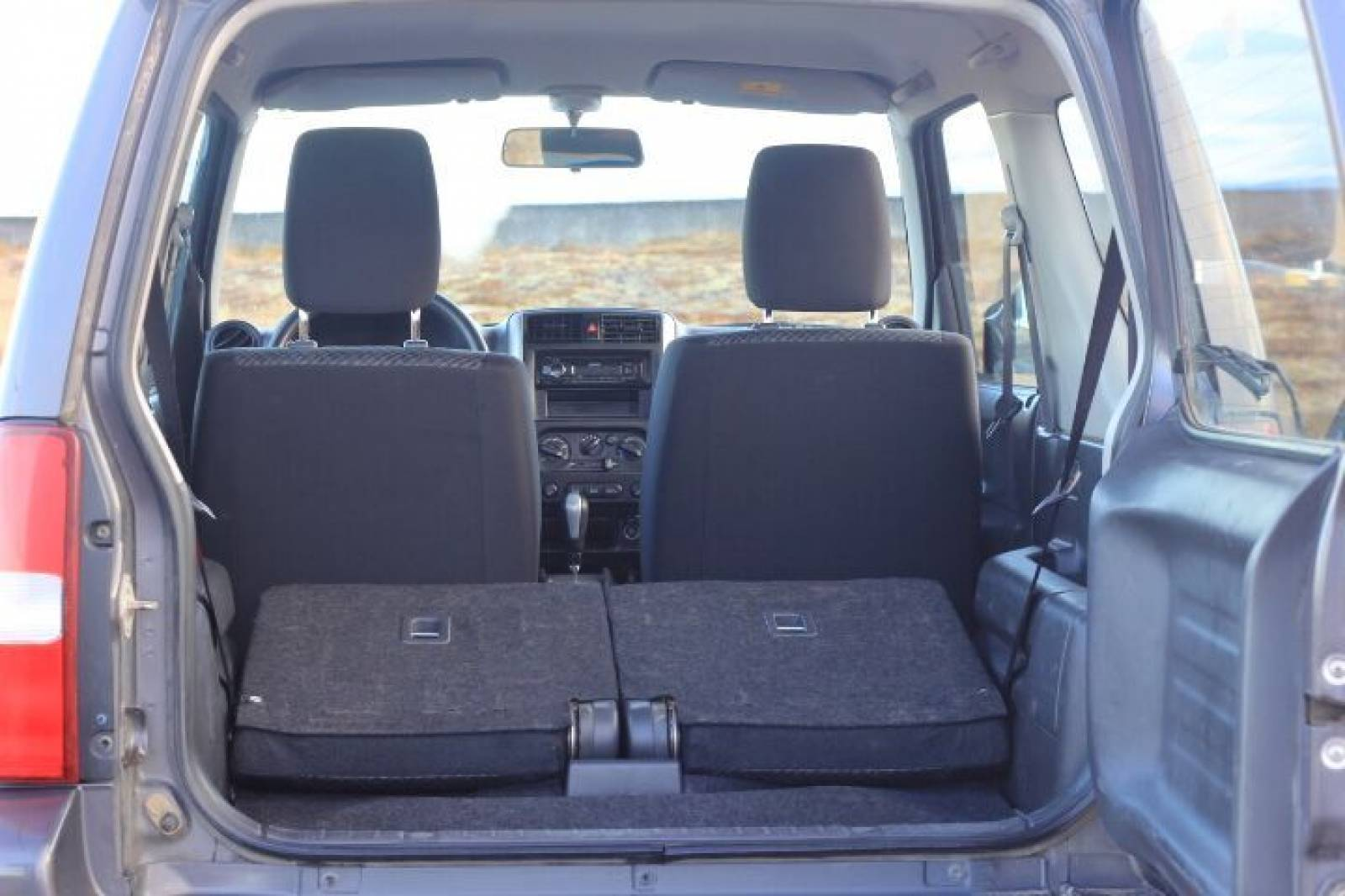Suzuki Jimny with folded back seats