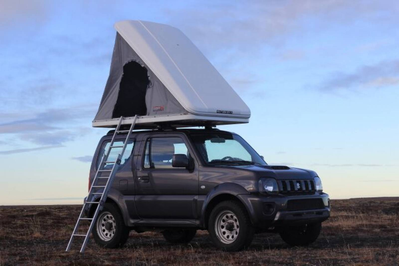 Suzuki Jimny with Roof Tent open